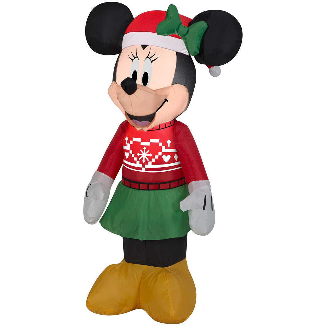 3.5' Airblown-Minnie in Ugly Sweater-Disney Christmas Inflatable