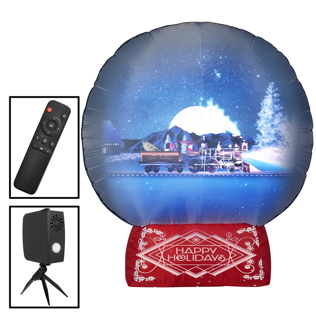 7.5' Living Projection Airblown Snow Globe Christmas Inflatable