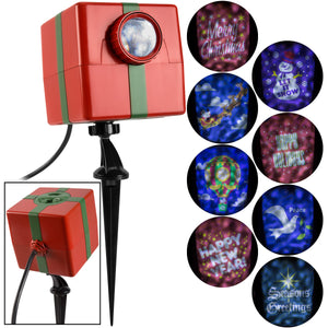 Gemmy Christmas Lightshow Projection-Fire & Ice-Holiday Projector w/8 Slides