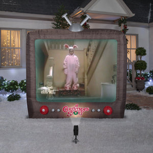 Gemmy 8' Living Projection Airblown Inflatable A Christmas Story