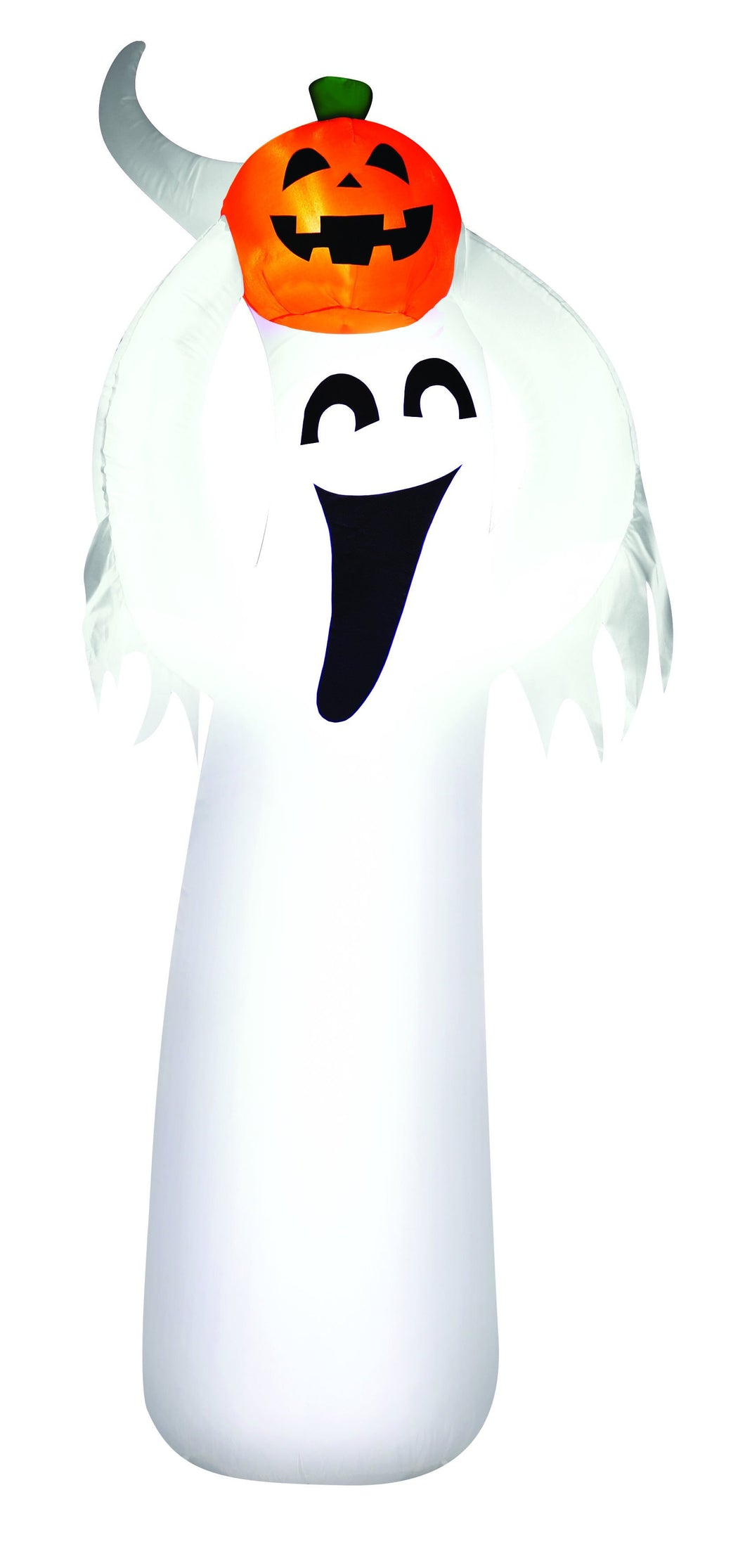 7' Airblown Ghost with a Pumpkin Halloween Inflatable
