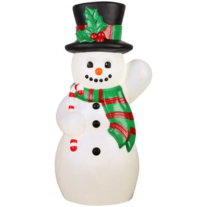 Lighted Blow Mold Outdoor Décor Vintage Snowman