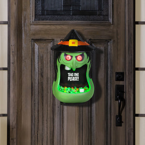 Gemmy Door Accessory Candy Bowl Whimsy Witch