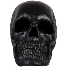 "Load image into Gallery viewer, 20"" Blow Mold Lighted Decor-Candle Flicker-Matte Black Skull"