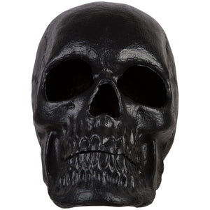 "20"" Blow Mold Lighted Decor-Candle Flicker-Matte Black Skull"