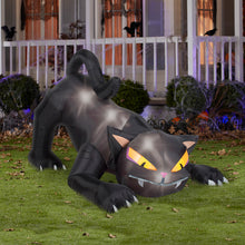Load image into Gallery viewer, 6' Animated Airblown Black Cat w/Turning Head Halloween Inflatable