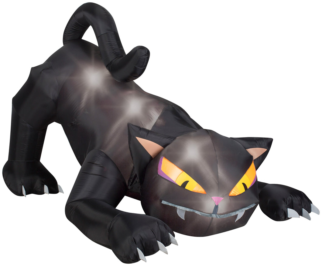 6' Animated Airblown Black Cat w/Turning Head Halloween Inflatable