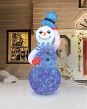 Load image into Gallery viewer, 7' Inflatable Swirling Lights Snowman With Tipping Hat