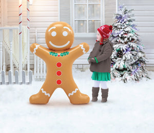 Blow-Up Inflatable Gingerbread Man