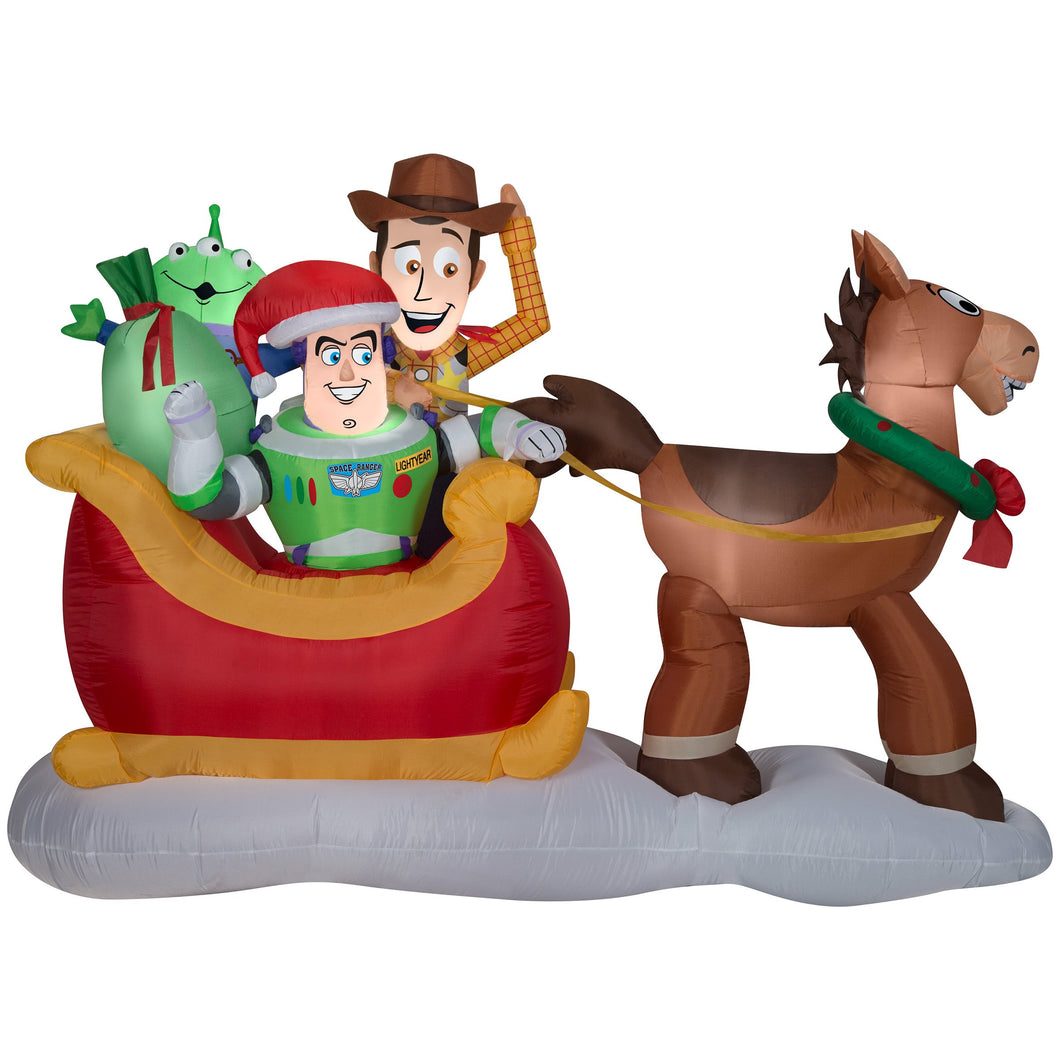 Gemmy 8' Airblown-Toy Story w/Sleigh Disney Christmas Inflatable Scene