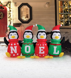 6' Inflatable Sweater Penguins