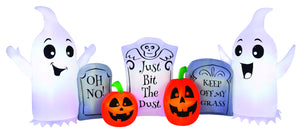 8' Airblown Ghost and Tombstone Scene Halloween Inflatable