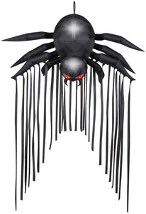 6.5' Airblown Door Archway Black Spider Halloween Inflatable