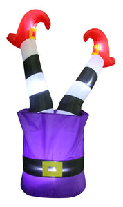 4.5' Airblown Witches Legs in the Air Halloween Inflatable
