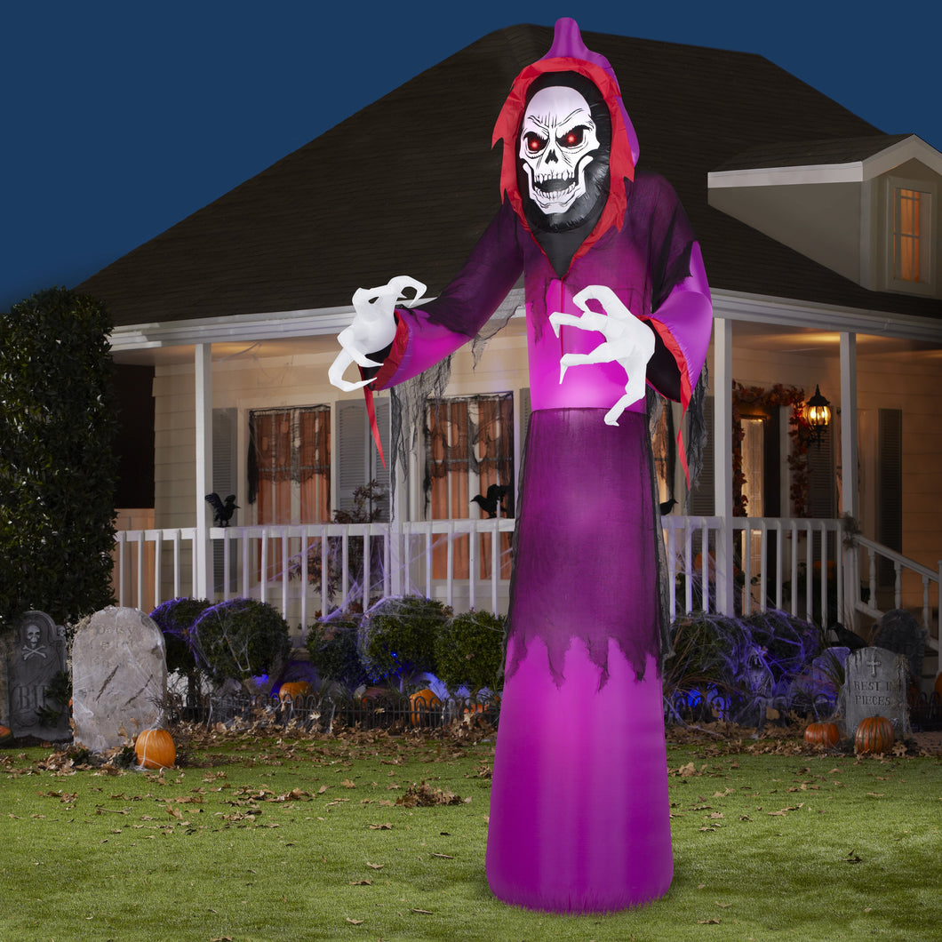 12' Airblown Giant Grim Reaper Halloween Inflatable