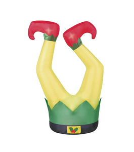 3.5' Airblown Elf Legs Christmas Inflatable