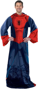 "Marvel's Spider-Man ""Spider Up"" Adult Comfy Throw Blanket with Sleeves"