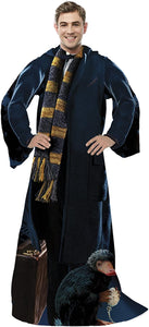 "Fantastic Beasts ""Newt"" Adult Comfy Throw Blanket with Sleeves"