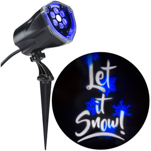 "Blue & White ""Let it Snow"" Lightshow Projection"