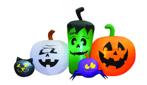 6' Inflatable Monster Pumpkin Patch Halloween Inflatable