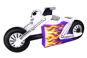 7.5' Inflatable Skeleton Cycle Halloween Inflatable