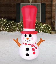 Load image into Gallery viewer, 4' Inflatable Long Hat Snowman