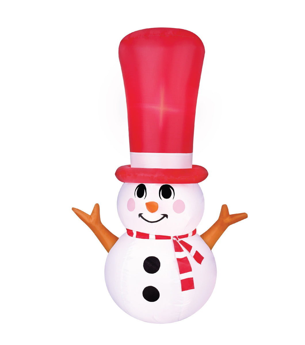 4' Inflatable Long Hat Snowman