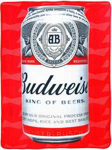 "Budweiser ""Cold Can"" Micro Raschel Throw Blanket, 46"" x 60"" Multi Color"