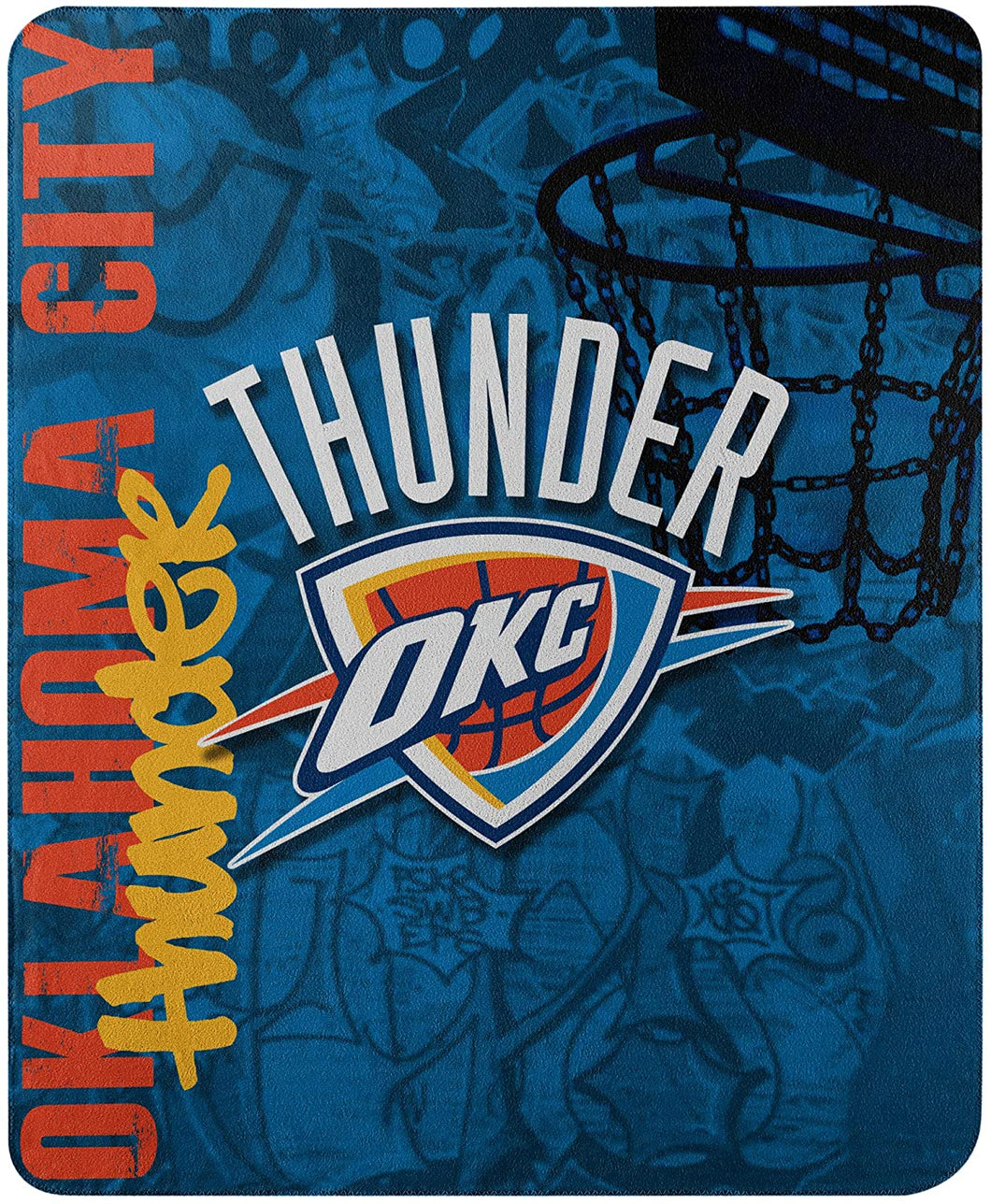 Thunder Printed Fleece Throw, 50-inch by 60-inch