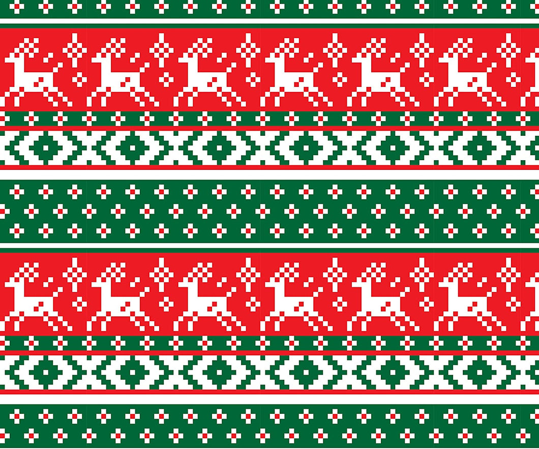 Reindeer Ugly Sweater Blanket
