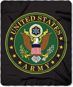 ARMY Rolled Fleece Throw