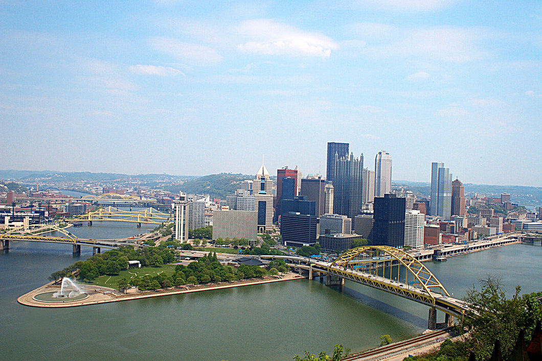 Pittsburgh Skyline Blanket