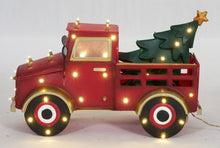 "Load image into Gallery viewer, 27"" UL LED Truck With Christmas Tree Sculpture"
