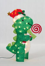 "Load image into Gallery viewer, 26"" UL Dinosaur With Peppermint Sculpture"