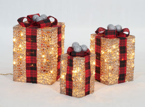 Set Of 3 UL Gift Box Sculpture