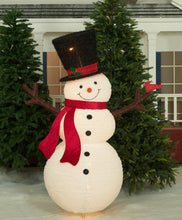 "Load image into Gallery viewer, 60"" UL Pop-Up Fluffy Snowman Sculpture"