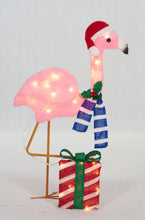 "Load image into Gallery viewer, 32"" UL Plush Flamingo Sculpture"