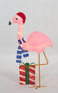 "32"" UL Plush Flamingo Sculpture"