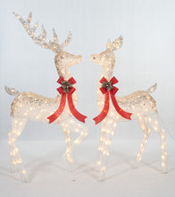 Load image into Gallery viewer, Set Of 2 UL Ombre Glittering Thread Buck And Doe Sculpture