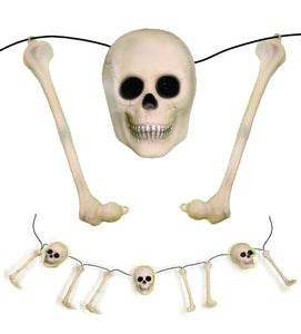 Animated Rattling Bones Halloween Prop