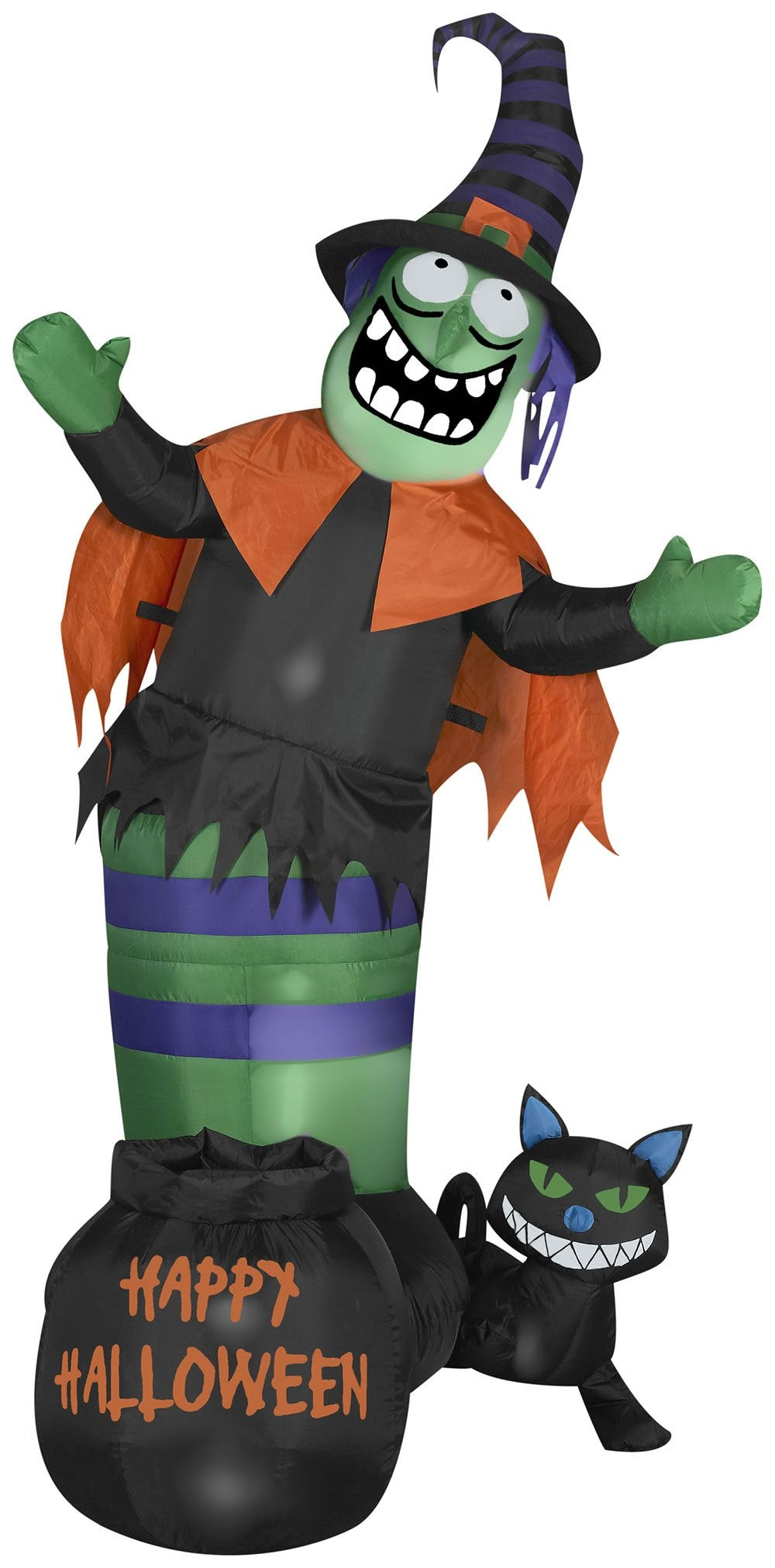 5.5' Animated Airblown Wobbling Witch Scene Halloween Inflatable