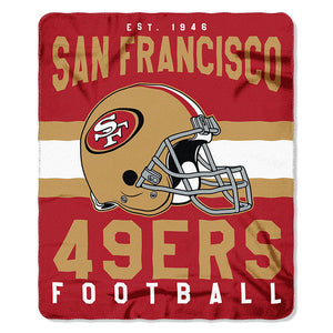NFL San Francisco 49ers NFL Singular 50-Inch by 60-Inch Printed fleece Throw, Red, 50-inches x 60""