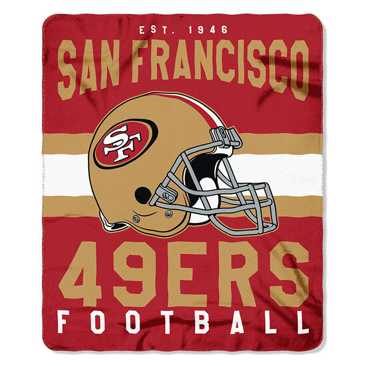 NFL San Francisco 49ers NFL Singular 50-Inch by 60-Inch Printed fleece Throw, Red, 50-inches x 60