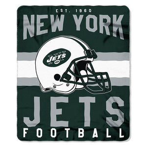 NFL New York Jets NFL Singular 50-Inch by 60-Inch Printed fleece Throw, Green, 50-inches x 60""