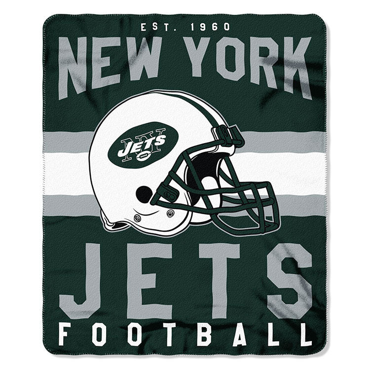 NFL New York Jets NFL Singular 50-Inch by 60-Inch Printed fleece Throw, Green, 50-inches x 60