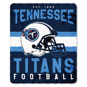 NFL Tennessee Titans NFL Singular 50-Inch by 60-Inch Printed fleece Throw, Blue, 50-inches x 60""