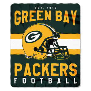 NFL Green Bay Packers NFL Singular 50-Inch by 60-Inch Printed fleece Throw, 50-inches x 60""