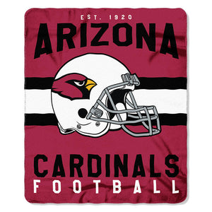 NFL ARIZONA Cardinals NFL Singular 50-Inch by 60-Inch Printed fleece Throw, Red, 50-inches x 60""