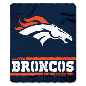 Broncos Splitwide Fleece Throw