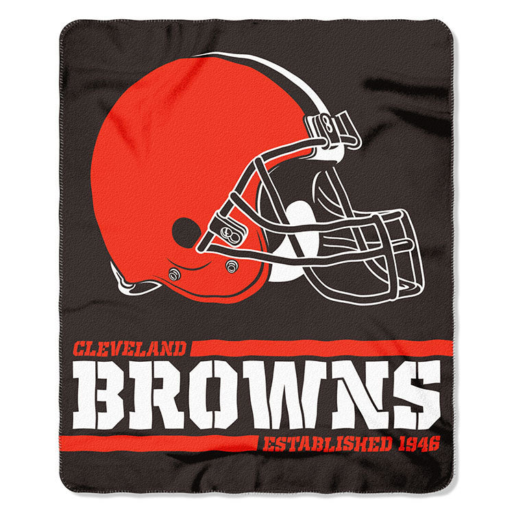 Browns Splitwide Fleece Throw